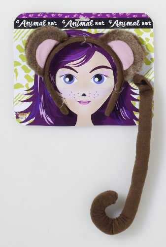 Tails Costumes (Forum Novelties Women's Playful Animals Monkey Costume Accessory Set, Multi, One size)
