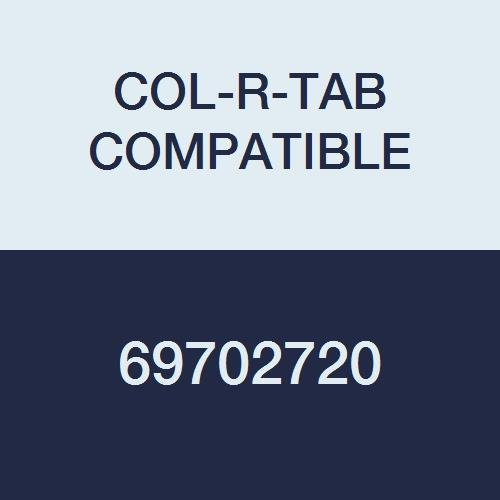 COL-R-TAB COMPATIBLE 69702720 12000 Color Code Alpha''D'' Label, 1-1/2'' x 1'', Grey Mylar Permanent (Pack of 126)