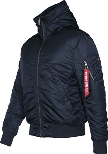Hooded Jacket o Alpha Industries w Blau fur MA 1 BS6fxTPwq