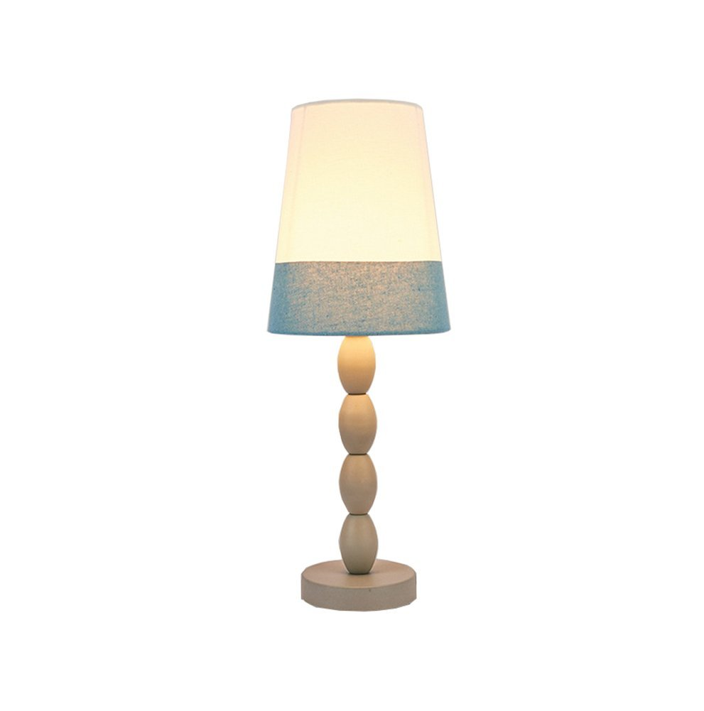 Iron Lamp European Style Bedside Lamp Hotel Zimmer Moderne Led Eye Lampe Energie sparen (Farbe   Blau)