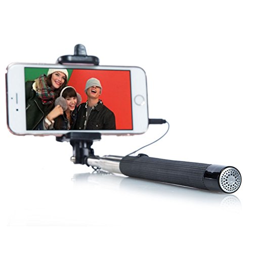 Extendable Phone Mount Soundcam Selfie Stick with Built In Audio Microphone