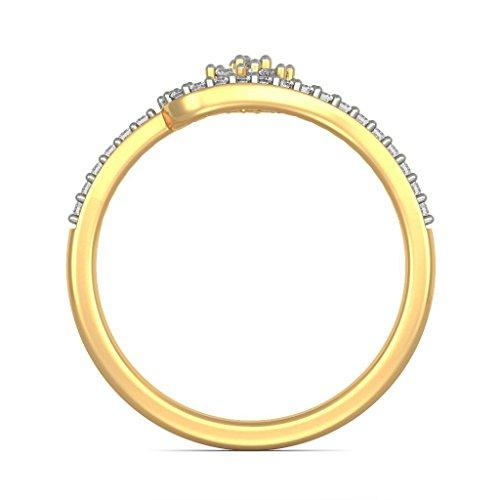 Or jaune 18K, 0,19carat Diamant Blanc (IJ   SI) en diamant