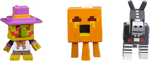 Minecraft Halloween Series Action Figure (3 Pack) - Village Watcher, Pumpkin Ghast & Robot Donkey]()