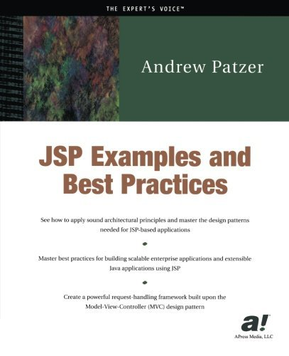 JSP Examples and Best Practices by Andrew Patzer (2002-04-24)