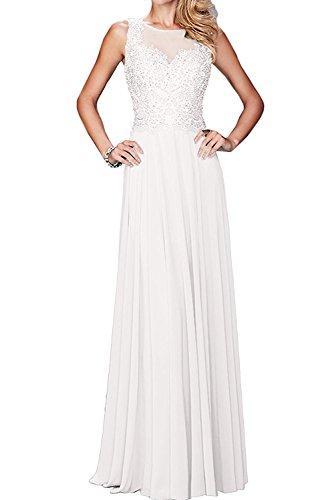 Damen Braut Brautmutter mit Weiß Langes La Spitze mia Kleider ...