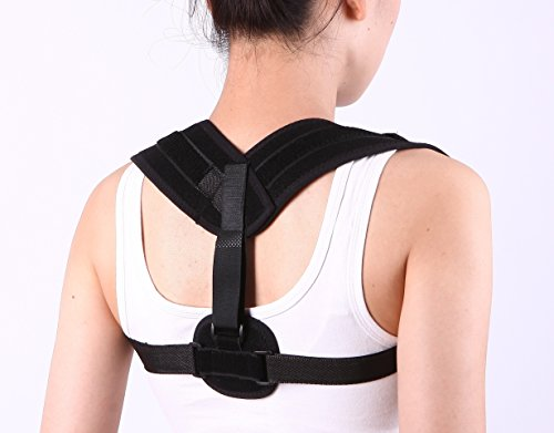 (Adjustable Posture Corrector Clavicle Brace for Men & Women, Clavicle Brace for Shoulder, Upper Back & Neck Pain, Thoracic Kyphosis Ultra Comfortable Breathable Mesh - Fits: 28