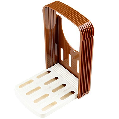 MIXIER Bread Slicer Toast Slicer Toast Cutting Guide Bread Toast Bagel Loaf Slicer Cutter Mold Sandwich Maker Toast Slicing Machine Folding and Adjustable with 4 Slice Thicknesses
