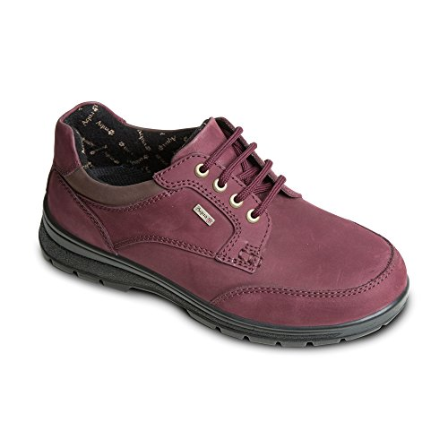 Padders Pic Womens Occasionnel Lacets Chaussures Rouge - Bordeaux FyTG05J