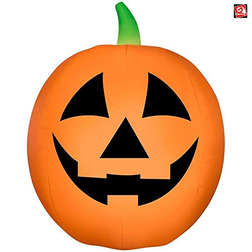 AIR CHARACTERS 7 1/2' Gemmy Airblown Inflatable Traditional Jack-o-Lantern Yard Decoration 224421