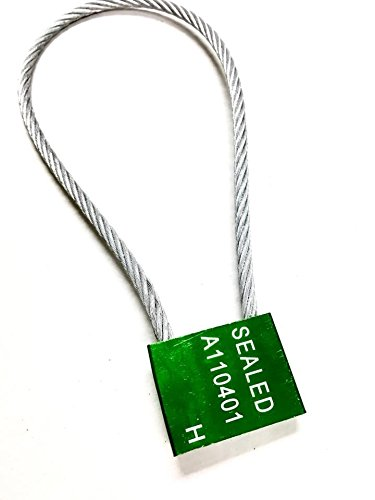 "14"" length 1/5"" inches thick 5mm Green Galvanized Steel Cable Seals – Seal - Truck Door Seals – Metal Seals – Strap Seals – – Same day Shipping (100 locks package)"