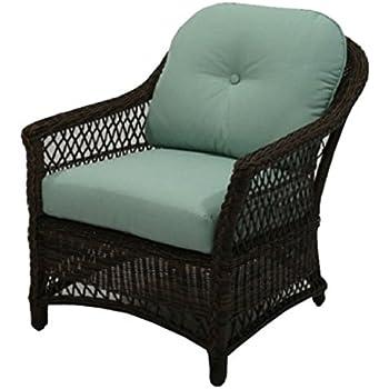 Amazon.com: Mimbre de resina, Cuidado fácil chaise, Negro ...
