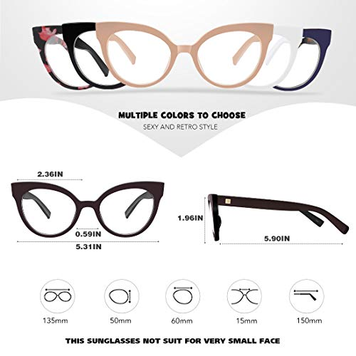 16273fa58f88 MEETSUN Womens Cat Eye Glasses Frame Fashion Designer Non Prescription  eyeglasses With Clear Lens for ladies