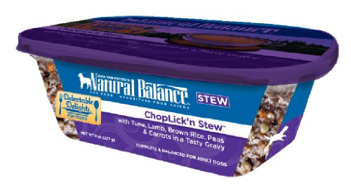 Dick Van Patten's Natural Balance Delectable Delights ChopLick'n Dog Stew, 8-Ounce, Case of 12, My Pet Supplies