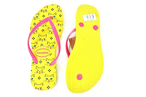 Havaianas Slim Yellow Infradito Revival Pets Donna rrq8xw04