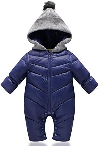 Windproof Down Jacket Winter Warm One Piece Romper Outfit