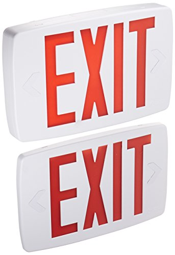 (Lithonia Lighting Quantum Thermoplastic LED Emergency Exit Sign, Red Letters)