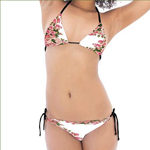 Bush Frame (iPrint Individualized Bikini,Bushes Frame Bridal Marry Park Summer Occasions Female,Multiform Design)