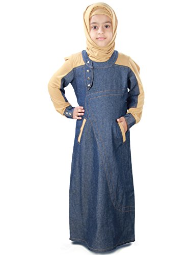 MyBatua-Afifa-Blue-Beige-Baby-Burqa-Abaya-AY-413-K