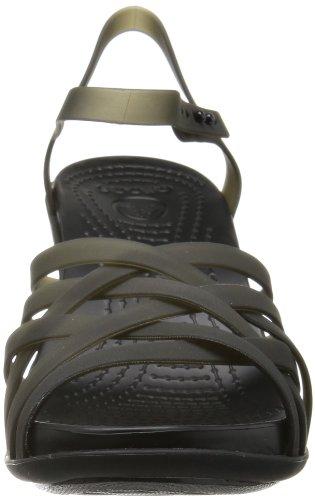 Crocs Huarache W - Sandalias de Vestir de Sintético Para Mujer Nero (Black/Black)