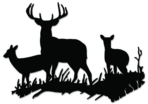 deer family window decal - 7