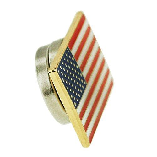PinMart's Magnetic American Flag Patriotic Suit Jacket Lapel Pin 3/4
