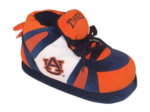 Happy Feet Men's and Womens NCAA College Sneaker Slippers Auburn Tigers iAzOSMN