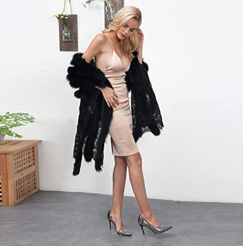 Nero Delle Di Donne Allentato Cardigan Tuduz 7 Incappucciato Faux Streetwear Outwear Pelliccia Del Casuale Giacca Parka Addensare Calda Soprabito Bqwx11Tt4d