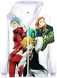 Gumstyle Anime The Seven Deadly Sins 3D Hoodie Jacket Zip-up Sweatshirt Coat