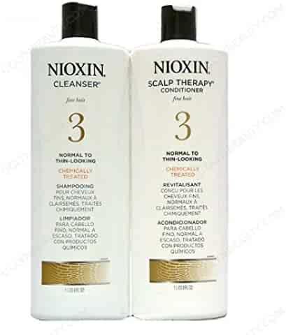 Nioxin System 3 Cleanser & Scalp Therapy Conditioner Treated Hair Set Duo 33.8 oz