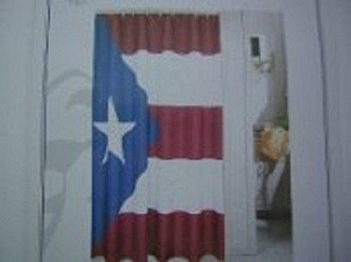 Puerto Rico Flag Shower Curtain 70x72 100% Polyester
