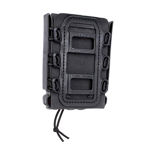 G-CODE Rifle Soft Shell Scorpion Mag Carrier (Black) with Molle Mount Attachment 100% Made in USA