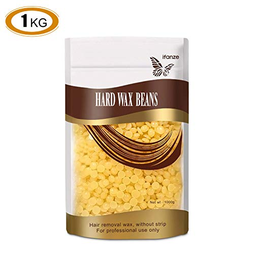 Hard Wax Beans 1000g, Hair Removal Wax Beads Smooth Face and Body for Women and Men Waxing Best for Bikini Arms, Legs, Armpit 1kg/35oz by iFanze - Body 35 Oz