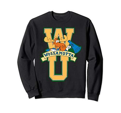 Rocky And Bullwinkle Wossamotta U Logo Sweatshirt -
