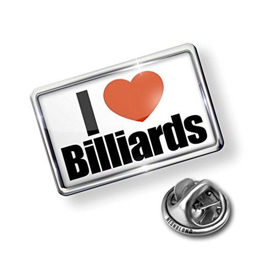 Pin I Love Billiards - Lapel Badge - NEONBLOND