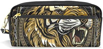 King Tiger - Estuche escolar para lápices con corona para niños, gran capacidad, para maquillaje, cosméticos, oficina, viajes, bolsa: Amazon.es: Oficina y papelería
