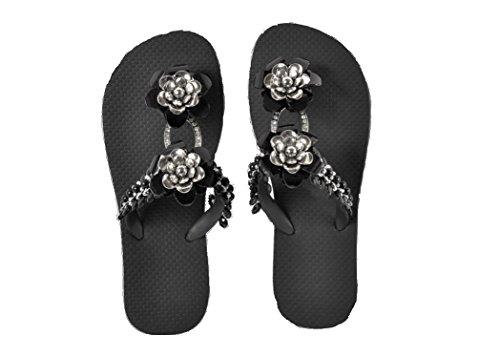 Designer de luxe Tongs kurochan Clas DonRegaloWeb exclusivas by Simone Herrera–Glamourous Line de Bella de parement Tongs Sandales