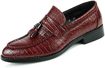 靴メンズファッションオックスフォードカジュアルクラシックタッセルクロコダイルスリップオンブローグシューズ