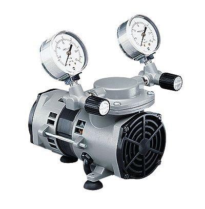 Gardner Denver Vacuum/Pressure Diaphragm Pumps, PTFE-Coated Wetted Parts, 0.75 cfm, 115 VAC