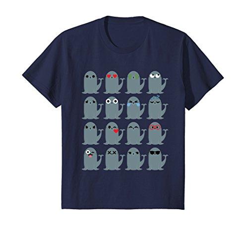 - Kids Seal Shirt T-Shirt Tee 8 Navy