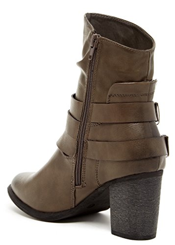 Booties Bucco Leather Womens Nurie Grey Fashion Vegan WqvBXnxUTq