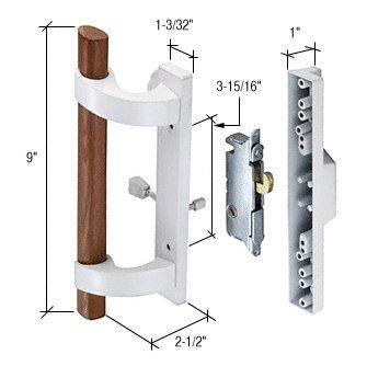 Cr Laurence C1219 CRL White Sliding Glass Door Handle wit...