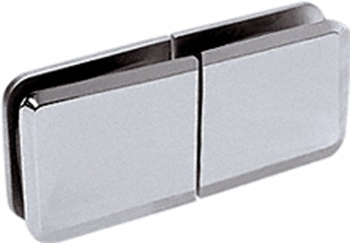 (C.R. LAURENCE BGC188CH CRL Chrome Square Beveled 180 Degree Glass-to-Glass Movable Transom Clamp)