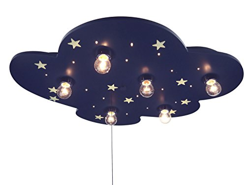 Niermann Standby LED Cloud XXL Ceiling Lamp, Blue Glowing Stars by Niermann Standby