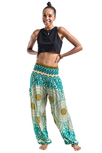 Harem Pants Unisex Geometric Mandala Harem Pants for Men