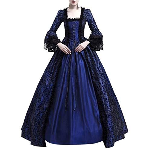 Euone Dress Clearance, Women Retro Medieval Party Princess Renaissance Cosplay Lace Floor Length Dress ()