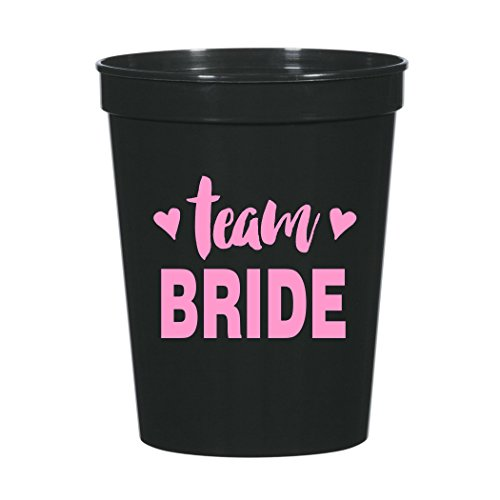 Team Bride with Hearts Bachelorette Party Plastic Stadium Cups