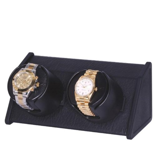 (Orbita Sparta 2 Automatic Dual Watch Winder - Black Leather W05570)