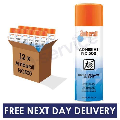 12 x Ambersil NC 500 Adhesive Spray 500ml Bulk Box CASE Discount