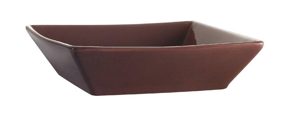 CAC China KC-B8-PLM Color Arts 8-Inch Stoneware Square Bowl, 42-Ounce, Plum, Box of 24