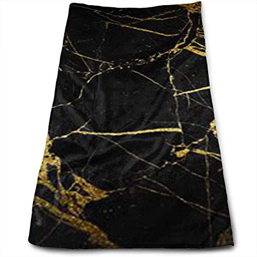 - JTRVW Luxury Hand Towels, Gold and Black Wallpaper Cool Towel Beach Towel Instant Cool Ice Towel Gym Quick Dry Towel Microfibre Towel Cooling Sports Towel